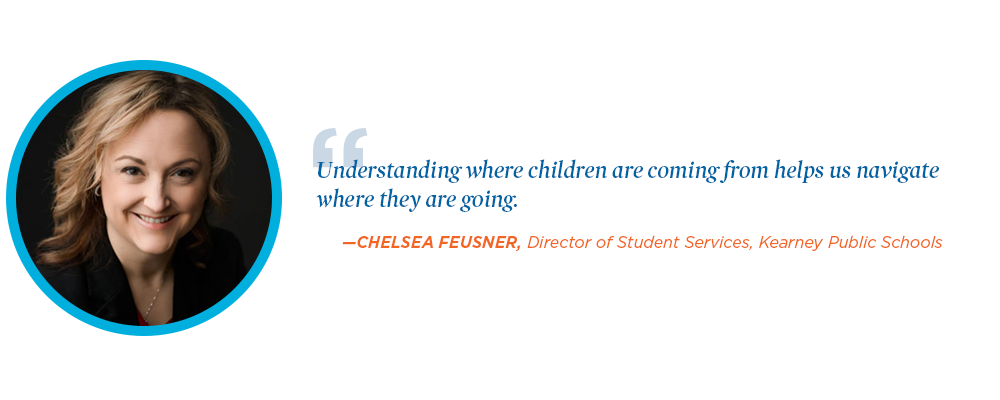 Chelsea Feusner quotation about the importance of transitions