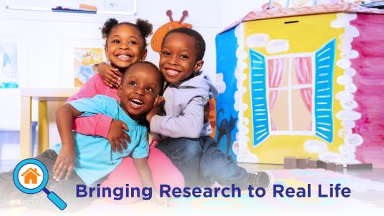 Smiling children in preschool setting